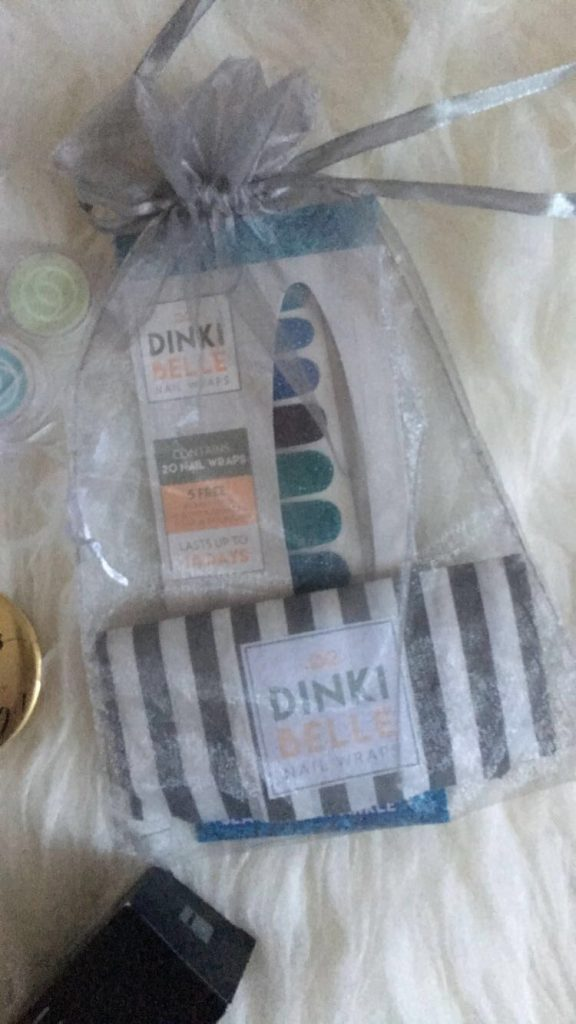 Dinki Belle Seafoam Sparkle Nail Wraps