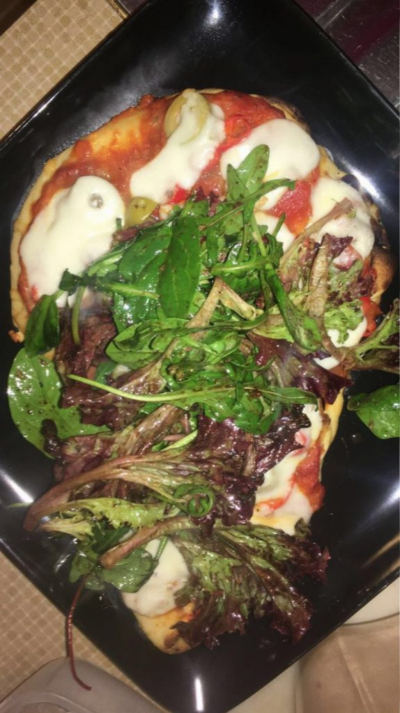 Top Pizza with Salad