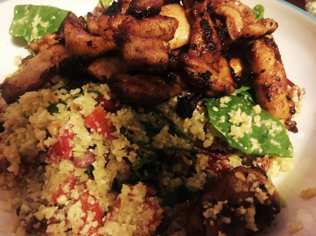 Cauliflower & Broccoli Couscous Chicken Salad