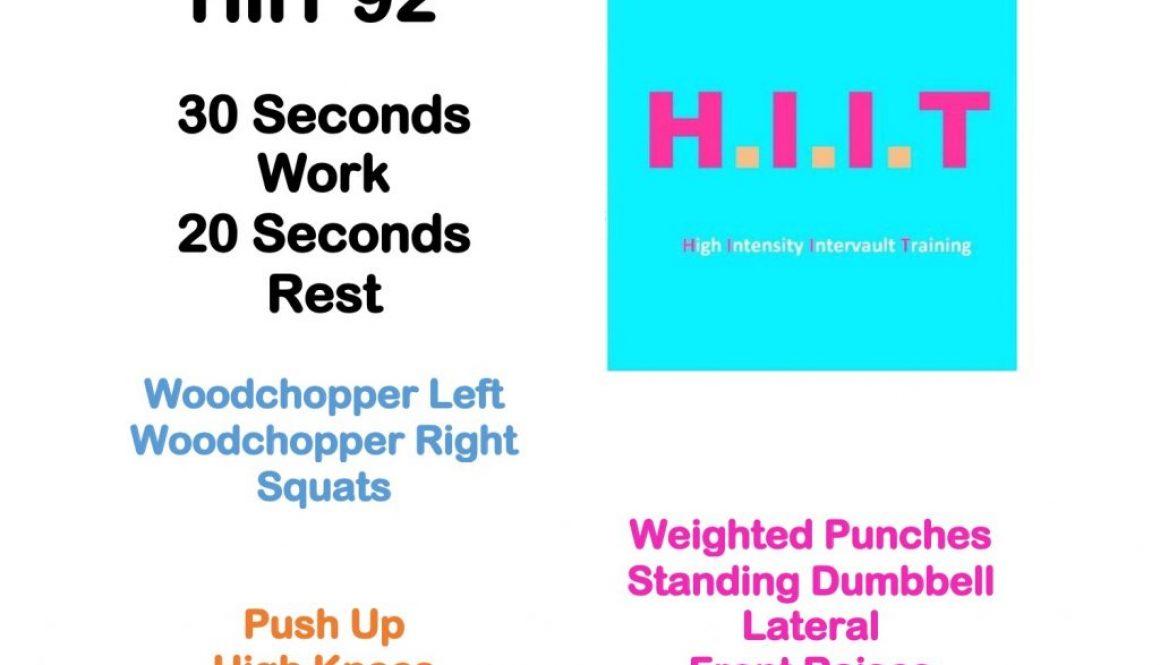 Workout Wednesday HIIT 92